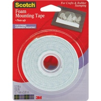 Scotch Foam Mounting Tape 1/2 Inch x 150 Inch (1.27cm x 381cm)