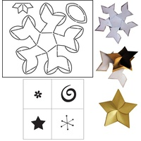 Coluzzle Cardigami Star Set Template & Stamp Set included
