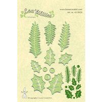 Lea'bilities Leane Creative Die - Holly Leaves and Pine Branches FREE SHIPPING