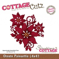 Cottage Cutz Die Ornate Poinsettia (4x4)