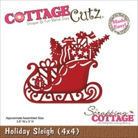 Cottage Cutz Die Holiday Sleigh (4x4)