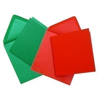 Craft UK Limited 50 Red and Green 6x6 Cards and Envelopes