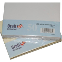 Craft UK Limited 50 White C6 Envelopes