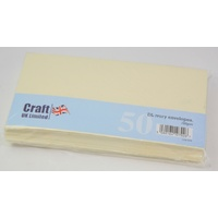 Craft UK Limited 50 Ivory DL Envelopes 20.8 cm x 11cm