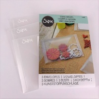 "Sizzix Plastic Storage Envelopes 5"" x 6 7/8"" FREE SHIPPING"