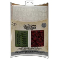 Sizzix Tim Holtz Emboss Folders December Calendar & Holiday Words 656941
