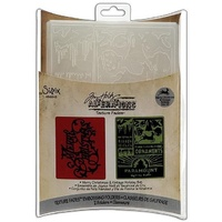 Sizzix Tim Holtz Emboss Folders Merry Christmas & Vintage Holiday 656945