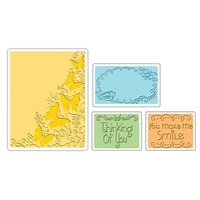 Sizzix Textured Impressions Embossing Folders 4PK - Butterfly Migration Set 656982 FREE SHIPPING