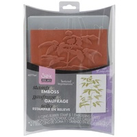 Sizzix Textured Impressions Stamp & Emboss Set Hero Arts Artistic Fern 657764