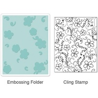 Sizzix Textured Impressions Stamp & Emboss Set Hero Arts Flowers & Vines 657856