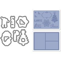 Sizzix Framelits Die Set 9PK w/Textured Impressions - Collage Frames Set 657973