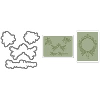 Sizzix Framelits Die Set 4PK w/Textured Impressions - Ornament Set #2 657976