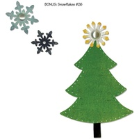 Sizzix Bigz Die - Nordic Holiday Tree, Snowflakes by Basic Grey