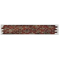 Sizzix Sizzlits Decorative Strip Die By Tim Holtz - Brick Wall 658240 FREE SHIPPING