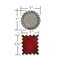 Sizzix Movers & Shapers Magnetic Die Set 2PK Mini Bottlecap & Stamp 658559