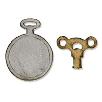 Sizzix Movers & Shapers Magnetic Die Set 2PK - Mini Clock, Key & Pocket Watch 658561