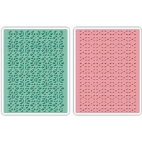 Sizzix Textured Impressions Embossing Folders 2PK Lace Set