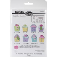 Sizzix Triplits Die Set 9PK - Gifts FREE SHIPPING