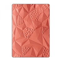 Sizzix Embossing Folder Jumbled Triangles 661259