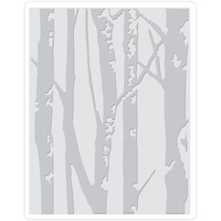 Sizzix Texture Fades A2 Embossing Folder Birch Trees By Tim Holtz