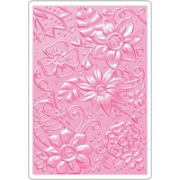 Sizzix 3D Embossing Folder Textured Impressions Bohemian Botanicals
