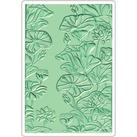 Sizzix 3D Embossing Folder Textured Impressions Lily Pond