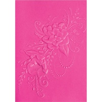 Sizzix 3D Textured Impressions Flower Heart Doodle 662455