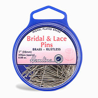 Pins Bridal & Lace Nickel Plated Brass 0.70mm x 25mm 25gms