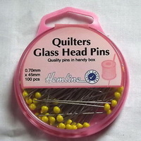 Pins - Quilting Extra Long 45mm 100pcs In Handy Re-Useable Box