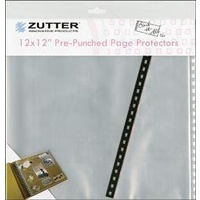 Zutter Bind-It-All Pre-Punched Page Protectors 12x12