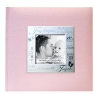 8x8 Scrapbooking Photo Album MBI Expressions Pink Baby Girl Album with Window