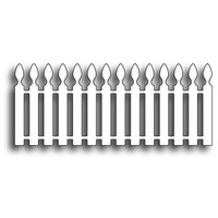 Poppystamps Die Picket Fence 827