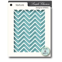 Memory Box Stencil Simple Chevron 88572