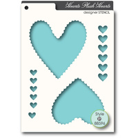 Memory Box Stencil Plush Hearts 88596