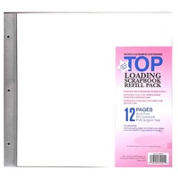 12x12 MBI Refills Post Bound Albums (6 Pack) includes Acid Free Paper & Extension Posts