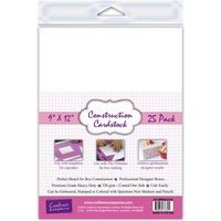 Crafter's Companion Construction Cardstock 9X12 25Pk