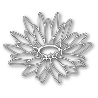 Memory Box Die Blooming Lotus Outline 99099