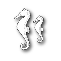 Memory Box Die Swimming Seahorses 99115