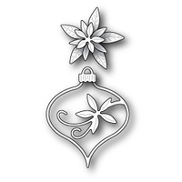 Memory Box Die - Fanciful Poinsettia Ornament 99549 FREE SHIPPING