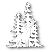 Memory Box Die Deer in the Trees Silhouette 99581