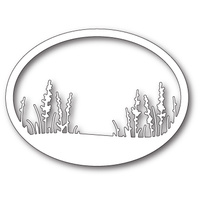Memory Box Die Wildflower Oval Frame 99635