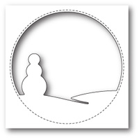 Memory Box Die Stitched Circle Snowman 99839