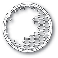 Memory Box Die Honeycomb Stitched Circle Frame 99923