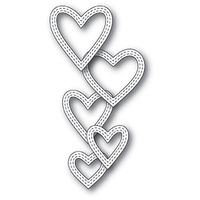Memory Box Die Classic Double Stitched Heart Rings 99938