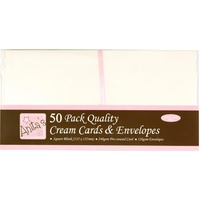 50 Blank Cream Cards and Envelopes 5 1/2x5 1/2 Square 240gsm