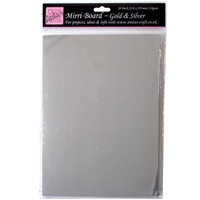 Mirri Board Gold and Silver Metallic Foil Cardstock A4 20 Sheets