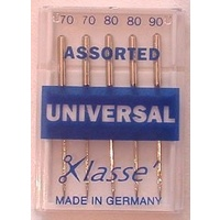 Klasse Universal Needles Assorted 60, 70, 80
