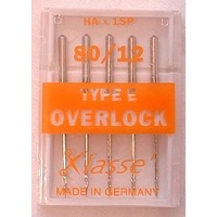 Klasse Machine Overlocker Needles Type E (HAx1SP) Size 80/12