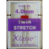 Klasse Stretch Twin Needles 4.0mm Size 90/14