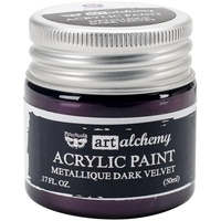Finnabair Art Alchemy Acrylic Paint 50ml Metallique Dark Velvet